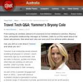 CNET interview with Bryony Cole